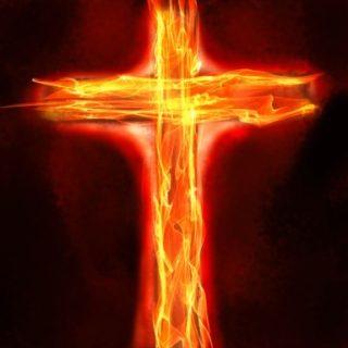 燃える十字架